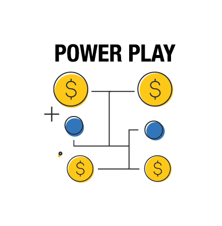 Choisissez l'option multiplicatrice Power Play pour augmenter vos gains